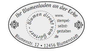 Printer Oval 44 - Stempelbild